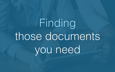 Finding those documents you need